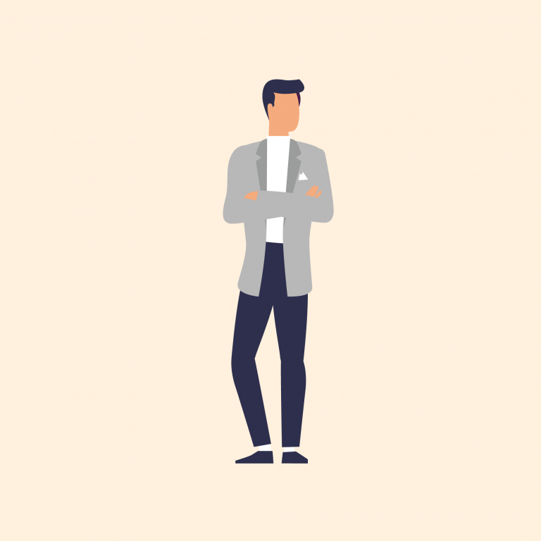 Illustration of man in suit